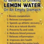 Benefits of Drinking Lemon Water on an Empty Stomach